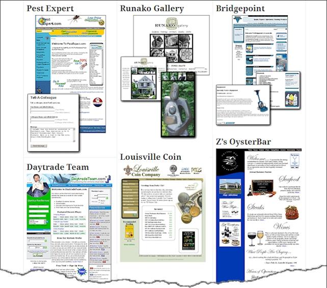 Web Site Design Examples
